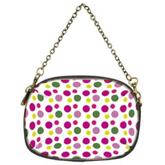 Polka Dot Purple Green Yellow Chain Purses (one Side)  by Mariart