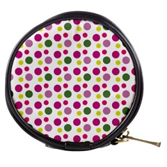 Polka Dot Purple Green Yellow Mini Makeup Bags by Mariart