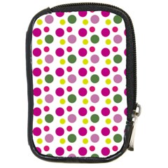 Polka Dot Purple Green Yellow Compact Camera Cases by Mariart