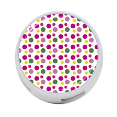Polka Dot Purple Green Yellow 4 Port Usb Hub (one Side) by Mariart