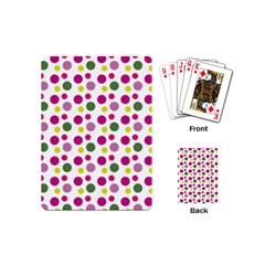 Polka Dot Purple Green Yellow Playing Cards (mini)  by Mariart