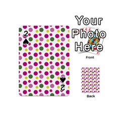 Polka Dot Purple Green Yellow Playing Cards 54 (mini)  by Mariart