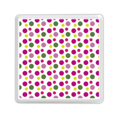 Polka Dot Purple Green Yellow Memory Card Reader (square)  by Mariart