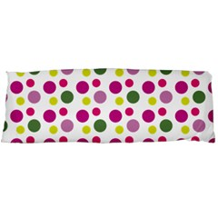 Polka Dot Purple Green Yellow Body Pillow Case Dakimakura (two Sides) by Mariart