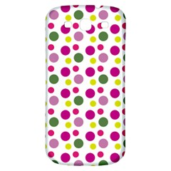 Polka Dot Purple Green Yellow Samsung Galaxy S3 S Iii Classic Hardshell Back Case by Mariart