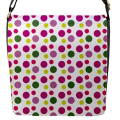 Polka Dot Purple Green Yellow Flap Messenger Bag (s) by Mariart