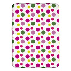 Polka Dot Purple Green Yellow Samsung Galaxy Tab 3 (10 1 ) P5200 Hardshell Case  by Mariart