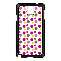 Polka Dot Purple Green Yellow Samsung Galaxy Note 3 N9005 Case (black) by Mariart