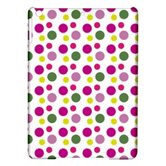 Polka Dot Purple Green Yellow Ipad Air Hardshell Cases by Mariart