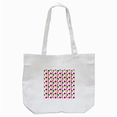 Polka Dot Purple Green Yellow Tote Bag (white) by Mariart