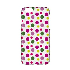 Polka Dot Purple Green Yellow Apple Iphone 6/6s Hardshell Case by Mariart