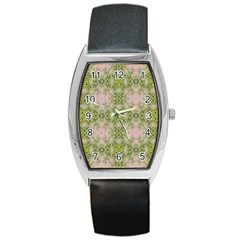 Digital Computer Graphic Seamless Wallpaper Barrel Style Metal Watch