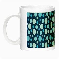Polka Dot Blue Night Luminous Mugs by Mariart