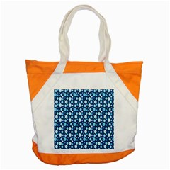 Polka Dot Blue Accent Tote Bag by Mariart