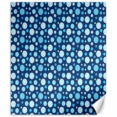 Polka Dot Blue Canvas 20  X 24