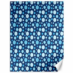 Polka Dot Blue Canvas 36  X 48   by Mariart