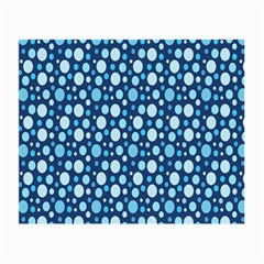 Polka Dot Blue Small Glasses Cloth (2 Side) by Mariart