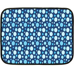 Polka Dot Blue Double Sided Fleece Blanket (mini)  by Mariart