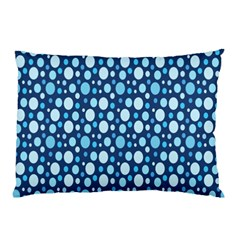 Polka Dot Blue Pillow Case (two Sides) by Mariart