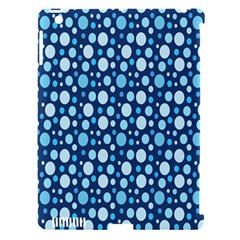 Polka Dot Blue Apple Ipad 3/4 Hardshell Case (compatible With Smart Cover)