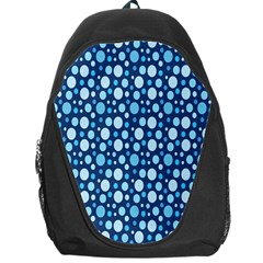 Polka Dot Blue Backpack Bag by Mariart