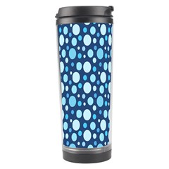 Polka Dot Blue Travel Tumbler by Mariart