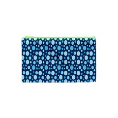 Polka Dot Blue Cosmetic Bag (xs) by Mariart