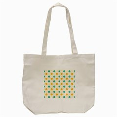 Polka Dot Yellow Green Blue Tote Bag (cream) by Mariart
