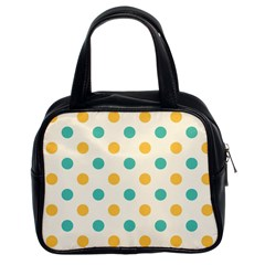 Polka Dot Yellow Green Blue Classic Handbags (2 Sides) by Mariart