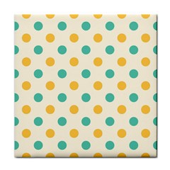 Polka Dot Yellow Green Blue Face Towel by Mariart