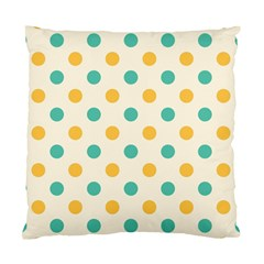 Polka Dot Yellow Green Blue Standard Cushion Case (one Side) by Mariart