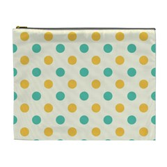 Polka Dot Yellow Green Blue Cosmetic Bag (xl) by Mariart