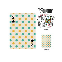 Polka Dot Yellow Green Blue Playing Cards 54 (mini)  by Mariart