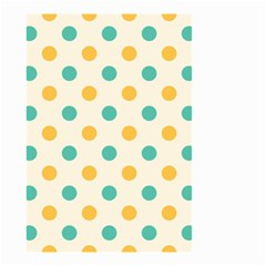 Polka Dot Yellow Green Blue Small Garden Flag (two Sides) by Mariart