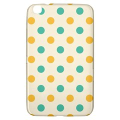 Polka Dot Yellow Green Blue Samsung Galaxy Tab 3 (8 ) T3100 Hardshell Case  by Mariart