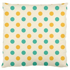 Polka Dot Yellow Green Blue Standard Flano Cushion Case (two Sides) by Mariart