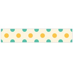 Polka Dot Yellow Green Blue Flano Scarf (large) by Mariart