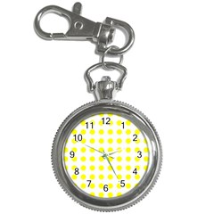 Polka Dot Yellow White Key Chain Watches by Mariart