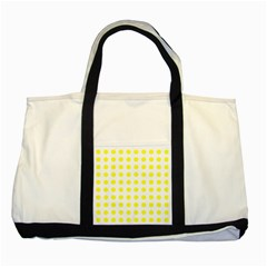 Polka Dot Yellow White Two Tone Tote Bag by Mariart