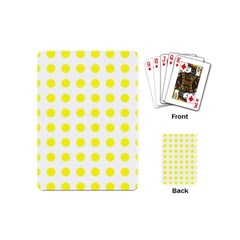 Polka Dot Yellow White Playing Cards (mini)  by Mariart