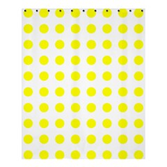 Polka Dot Yellow White Shower Curtain 60  X 72  (medium)  by Mariart