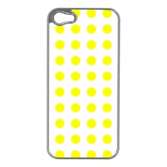 Polka Dot Yellow White Apple Iphone 5 Case (silver) by Mariart