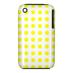 Polka Dot Yellow White Iphone 3s/3gs