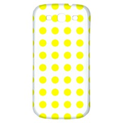 Polka Dot Yellow White Samsung Galaxy S3 S Iii Classic Hardshell Back Case by Mariart