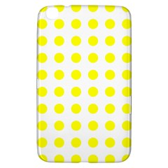 Polka Dot Yellow White Samsung Galaxy Tab 3 (8 ) T3100 Hardshell Case  by Mariart