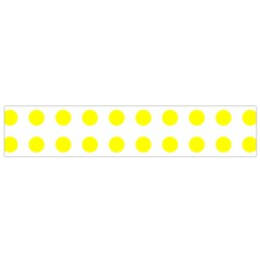 Polka Dot Yellow White Flano Scarf (small) by Mariart