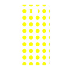 Polka Dot Yellow White Samsung Galaxy Alpha Hardshell Back Case by Mariart