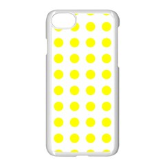 Polka Dot Yellow White Apple Iphone 7 Seamless Case (white) by Mariart