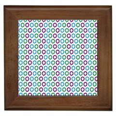 Polka Dot Like Circle Purple Blue Green Framed Tiles by Mariart