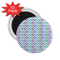 Polka Dot Like Circle Purple Blue Green 2 25  Magnets (10 Pack)  by Mariart